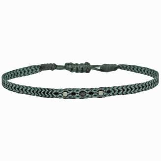 Black Diamond Leju London Wrap Bracelet With Sterling Silver Detail