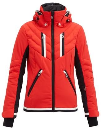Toni Sailer Henni Padded Hooded Ski Jacket - Red Multi