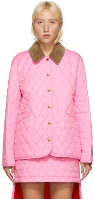 Burberry Pink Quilted Dranefield Jacket
