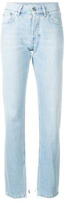Ganni frayed cuff detailed jeans