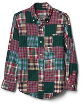 Gap Festive patchwork flannel shirt