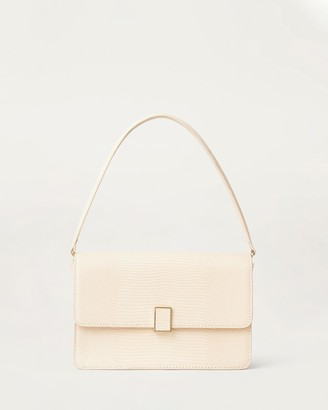 Loeffler Randall Katalina Leather Shoulder Bag Bone