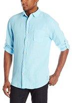Margaritaville Men's Long Sleeve Garment Dyed Linen Shirt