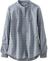 Uniqlo Women Idlf Cotton Lawn Check Pleated Long Sleeve Shirt