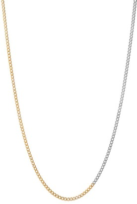 Miansai 14K Goldplated Two-Tone Chainlink Necklace