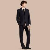 Burberry Classic Fit Wool Part-canvas Suit , Size: 56r, Blue