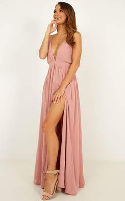 Showpo Shes A Delight Maxi Dress in dusty rose - 18 (XXXL) Dresses