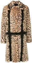 Giambattista Valli leopard print fur coat