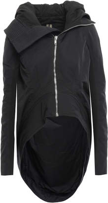 Rick Owens Ribbed-knit Trimmed Shell Hooded Jacket