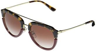 Tory Burch TY6072 Aviator Metal Sunglasses 52 mm (Dark Tortoise/Bordeaux) Fashion Sunglasses