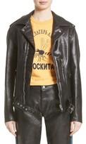 Junya Watanabe Women's Faux Leather Moto Jacket