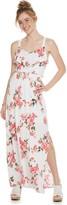 Juniors' Three Pink Hearts Cameo Maxi Dress