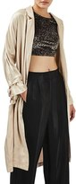 Topshop Women's Satin Duster Coat