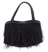 Manolo Blahnik Ostrich Feather Evening Bag