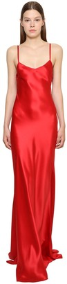 Ralph Lauren Collection Silk Satin Long Slip Dress