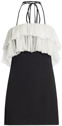 Alexis Banni Choker Ruffle-Trim Mini Dress