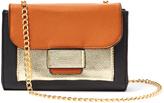 Kathy Ireland Black Color Block Chain Crossbody Bag