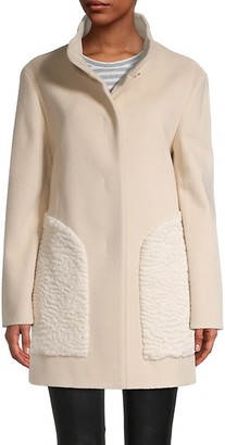 Cinzia Rocca Icons Faux Fur Wool-Blend Coat