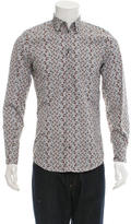 Dolce & Gabbana Car Print Long Sleeve Button-Up w/ Tags