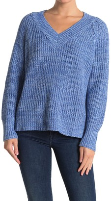 Lush V-Neck Knit Sweater