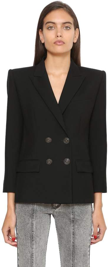 Givenchy Double Breasted Wool & Mohair Blazer