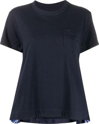 Sacai pleated sides T-shirt