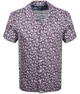 Pretty Green Short Sleeve Barley Shirt Purple