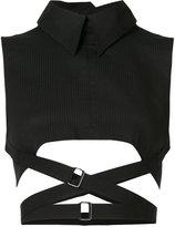Ann Demeulemeester cropped high neck vest - women - Cotton - 38