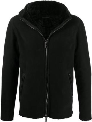 Giorgio Brato Shearling-Lined Hooded Jacket