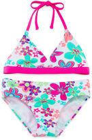 JCPenney BREAKING WAVES Breaking Waves Flower Bikini - Girls 7-16