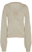 Oday Shakar V-Neck Knit Sweater