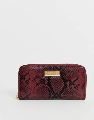 Carvela Alicia snake purse in wine combination-Purple
