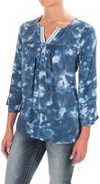 Wrangler Notched Neckline Shirt - Rayon, 3/4 Sleeve (For Women)