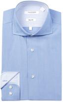 Isaac Mizrahi Mini Stripe Slim Fit Dress Shirt