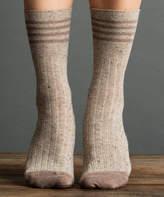Clay Metallic Tweed Rugby Socks
