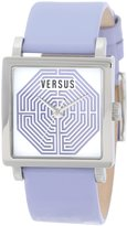Versus By Versace Women's AL12SBQ901A015 Dazzle Stainless Steel Square Lilac Leather Watch