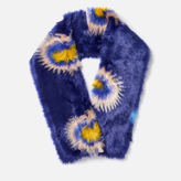 Paul Smith Women's Pow Faux Fur Scarf Purple