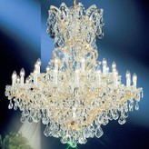 Swarovski House Of Hampton Gregson 31 - Light Candle Style Empire Chandelier House of Hampton Finish: Olde World Gold, Crystal Type Elements