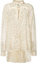 Veronique Branquinho elongated back lace blouse