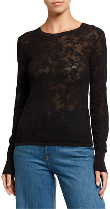 Rag & Bone Perry Crewneck Sheer Pullover Sweater