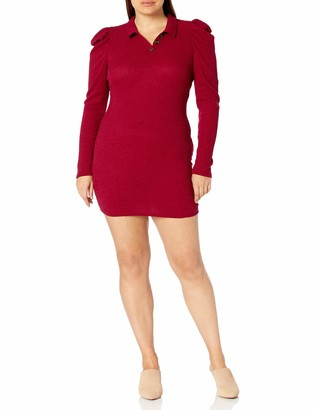 Forever 21 Women's Plus Size Ribbed Shirt Dress