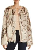 Freeway Marbled Faux Fur Jacket