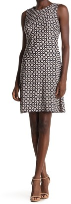 Tommy Hilfiger Geo Print Sleeveless Sheath Dress