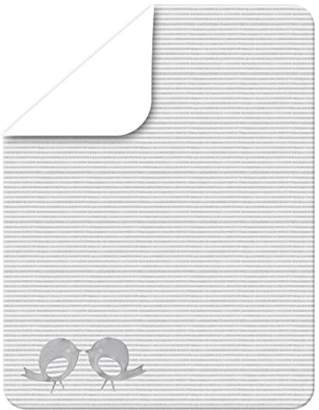 Camilla And Marc Tots by Smart Rike LCD 140, Set of 2 Classic, 100% Cotton Jersey Fitted Sheet 140 x 70 cm White and Grey Mix