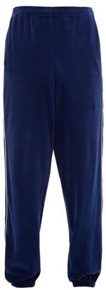 Gucci Gg-jacquard Cotton-chenille Track Pants - Mens - Blue