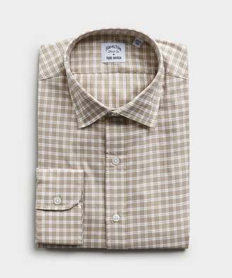 Hamilton Made in the USA + Todd Snyder Wallace Plaid Shirt in Tan