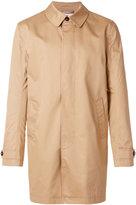 Closed buttoned raincoat - men - Cotton/Polyurethane/Viscose - S