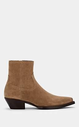Saint Laurent Men's Wyatt Suede Ankle Boots - Beige, Tan