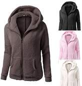 ZOMUSA Hot Sale Womens Hooded Full Zip Up Sherpa Fleece Hoodie Jacket Cotton Coat