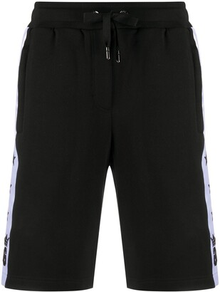 Dolce & Gabbana Star Stripe Track Shorts